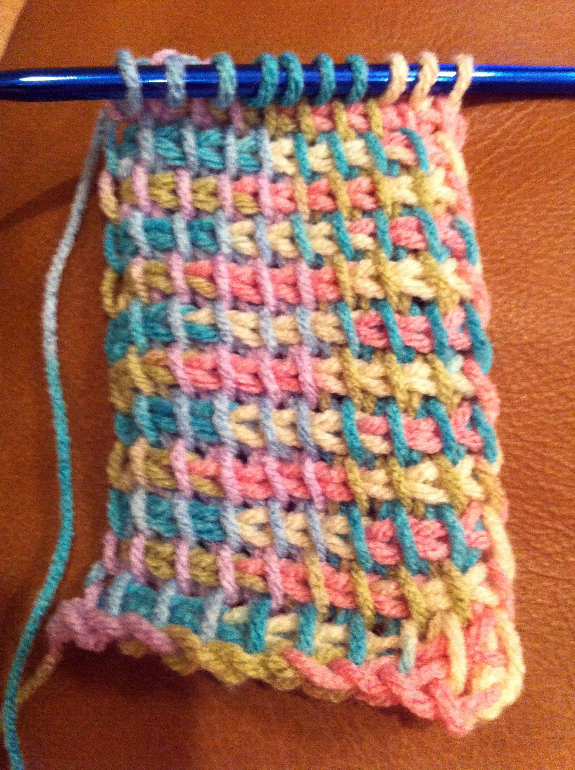 Tunisian Crochet Pattern Maker : My First Tunisian Crochet Scarf - House Full of Monkeys