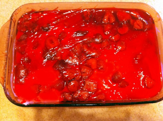 Strawberry Pretzel Salad - Finished