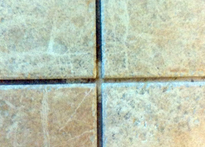 Contrast between dirty and clean grout