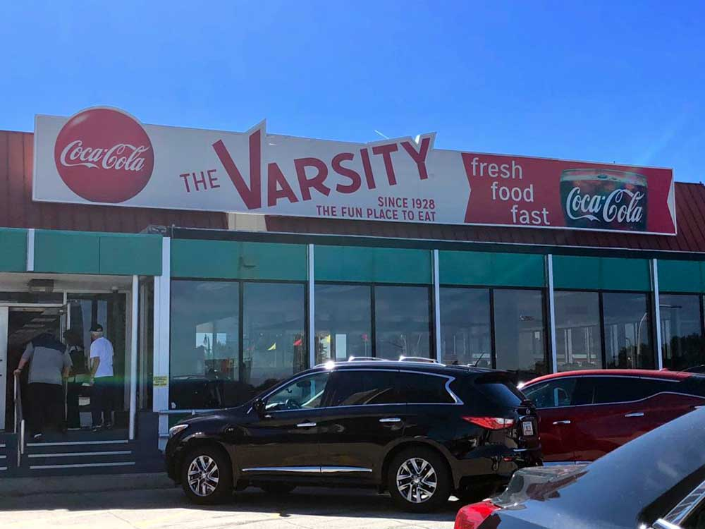 The Varsity restaurant in Atlanta - rooftop entrance