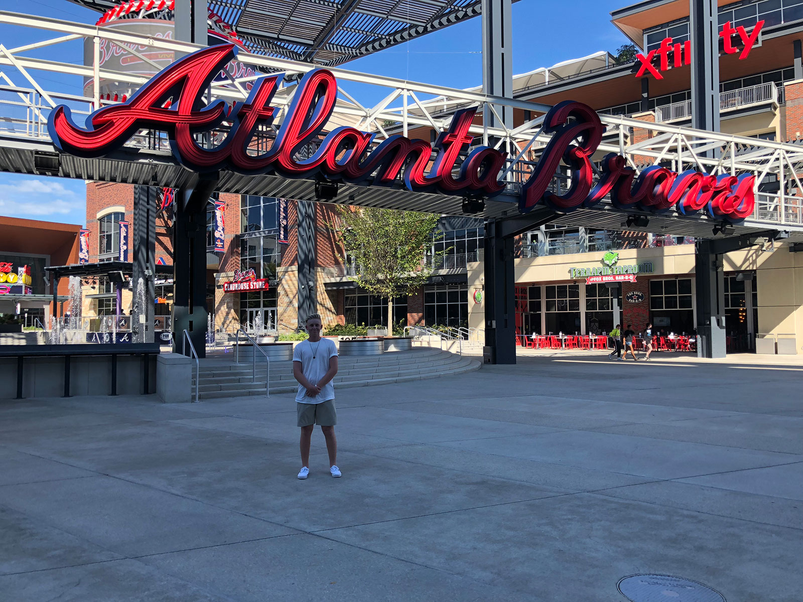 Peter under the Braves Sign