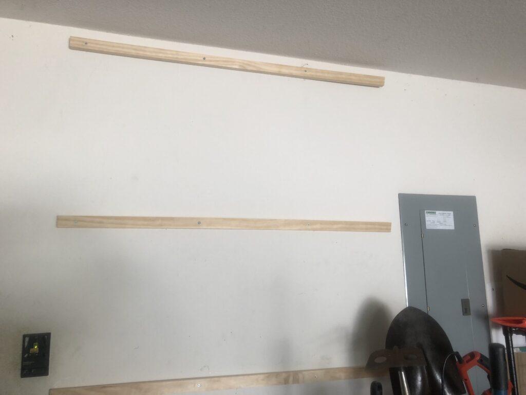 Furring strips installed