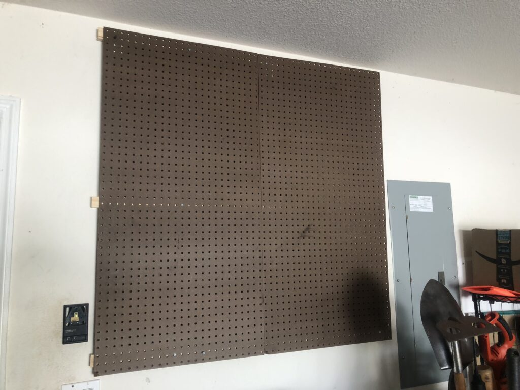 Pegboard installed in my garage