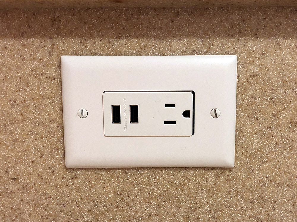 The finished product - brand new USB + Electrical Outlet