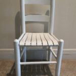 How to Update Old Furniture with a New Coat of Paint – Wooden Slat Chair Makeover