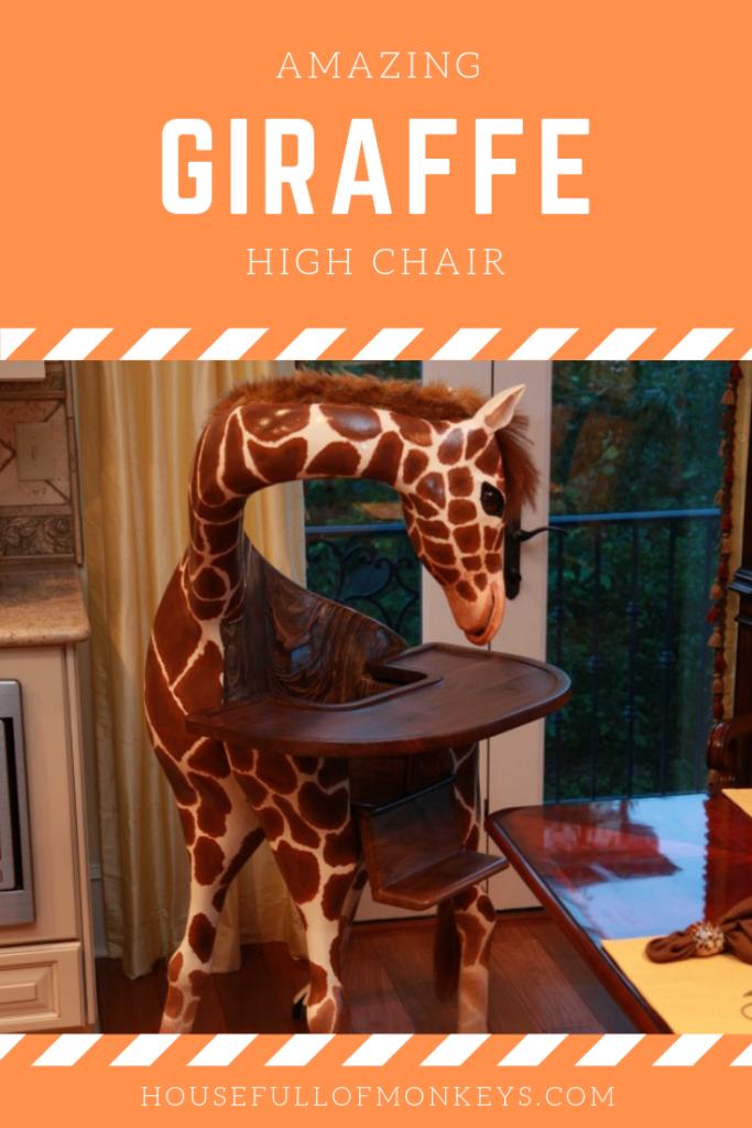 Amazing Giraffe High Chair