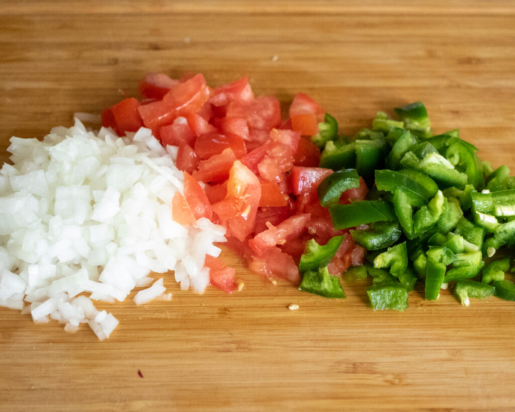 Onions, Tomatoes, and Jalapeno Peppers
