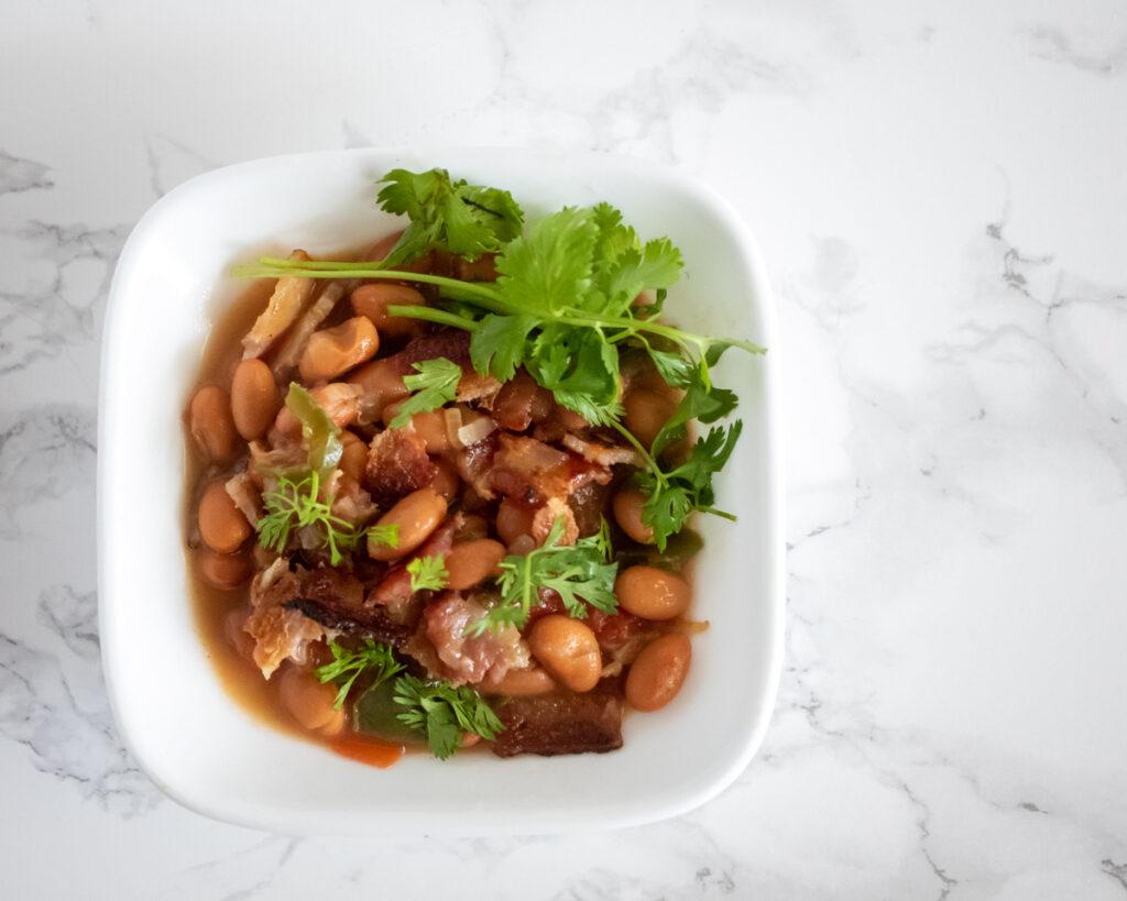 Lupe Tortilla's Charro Beans